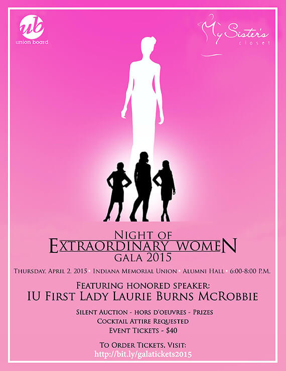 MSC Night of Extraordinary Women Poster 2015