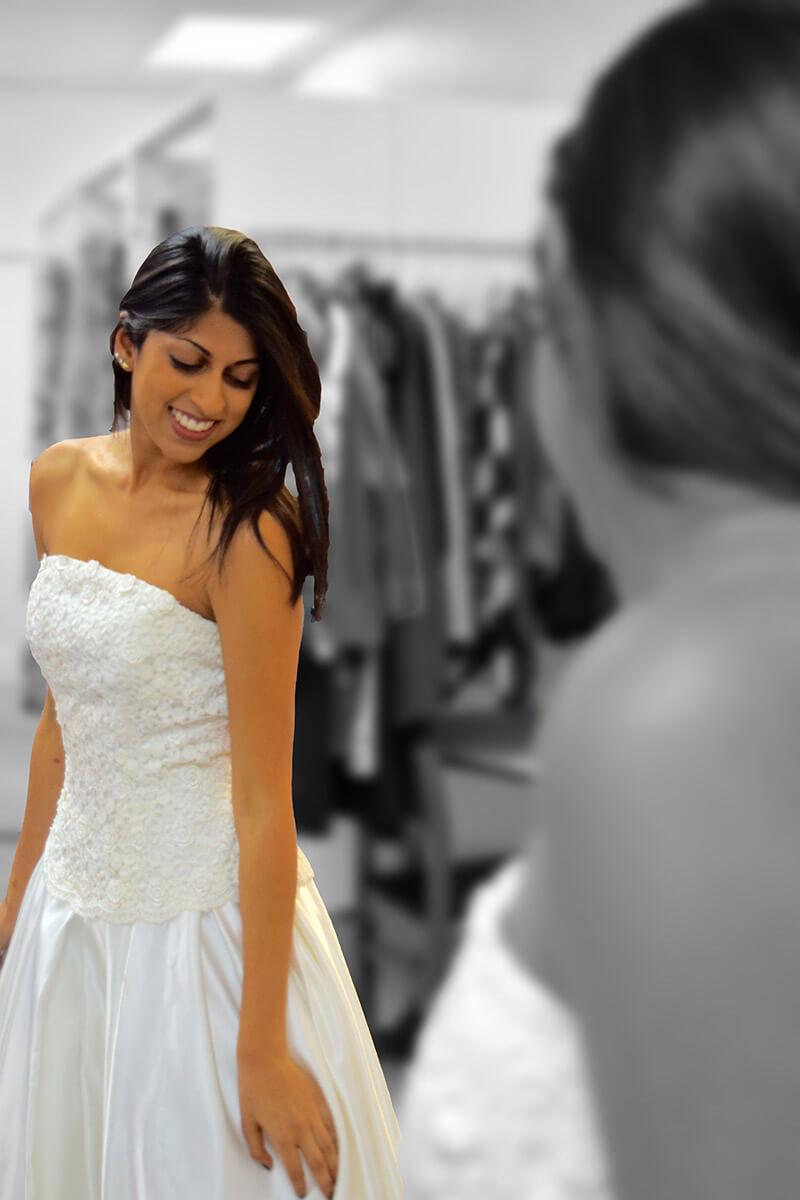 My Sister's Closet - Wedding Dress bw