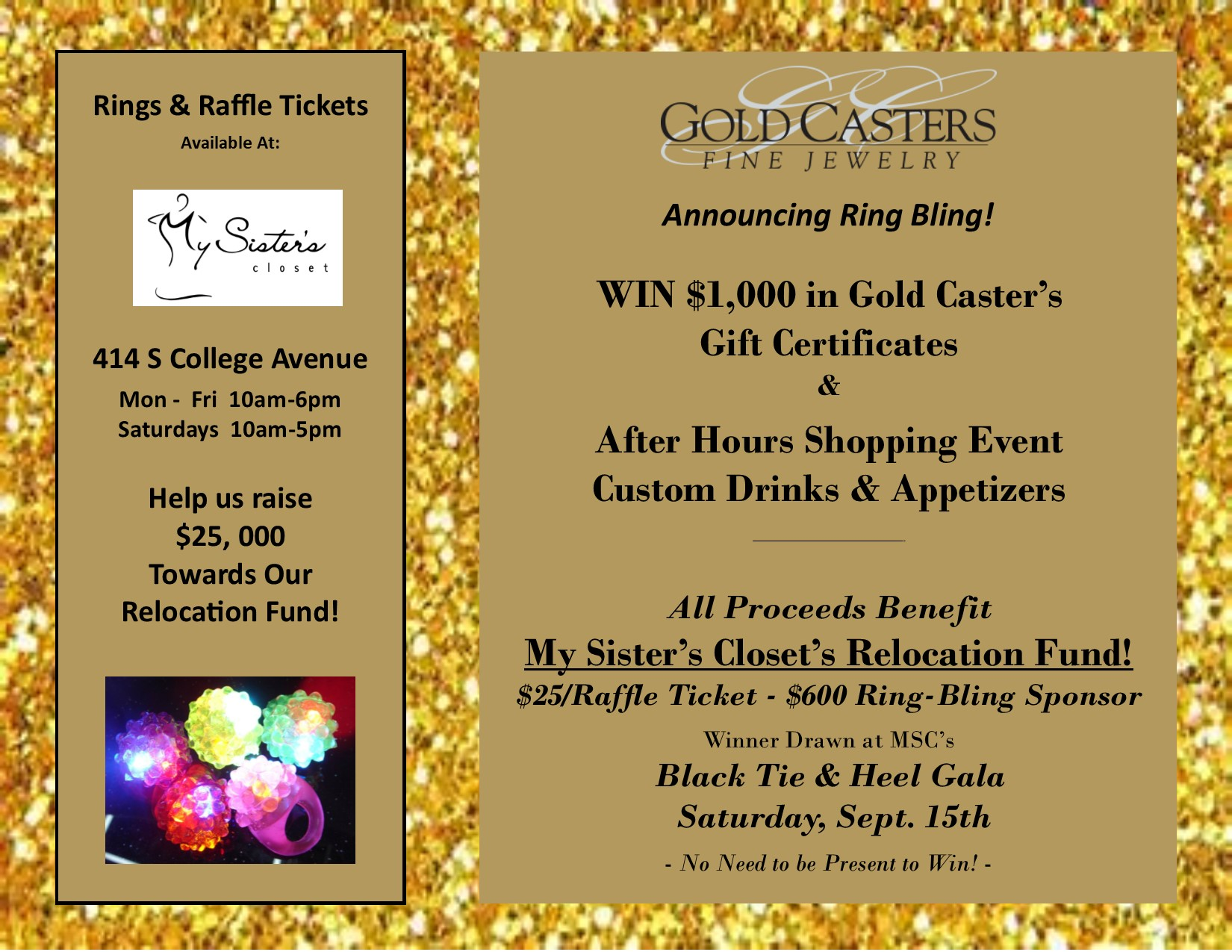 Ring Bling Event - Gold Casters.pub